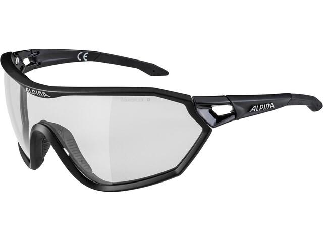 Alpina S-Way L VL+ Glasses black matt